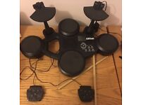 Clifton Electronic Drum Kit E-Drum Set 6 touch sensitive pads 10 sound settings VGC
