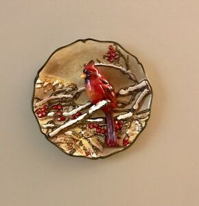 Raised Cardinal collector wall plate