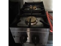 Nearly new catering hob: Parry double gas boiler rings