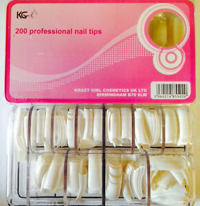 KG-PROFESSIONAL-NAIL-TIPS-100-200-500-SETS-AVAILABLE-CHOOSE-NOW