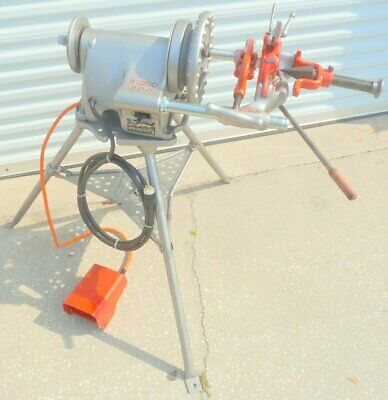 Ridgid 300 Pipe Threader Threading Machine W Tristand Foot Pedal