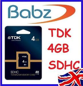 4GB TDK SDHC Class 4 SD HC Secure Digital Memory Card FOR SONY CANON KODAK