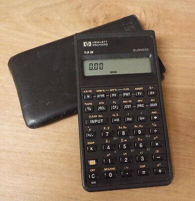 Vintage Hewlett Packard Hp 10B Business Financial Calculator W Case
