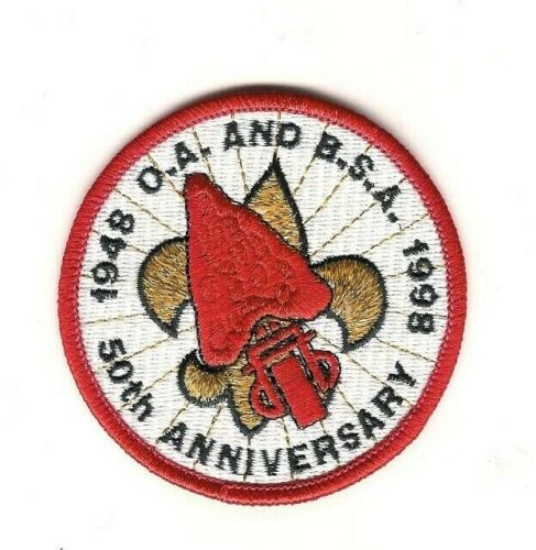 Boy Scout Patch 50th Anniversary of OA and BSA 1948-1998