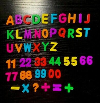 56 Colorful ABC Numbers Fridge Magnets Mathematical Learning FREE SHIPPING