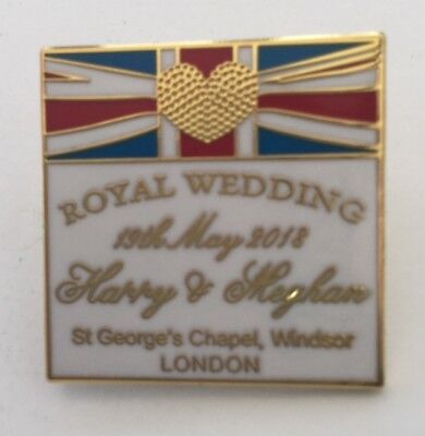 Prince Harry   Meghan Markle Royal Wedding 2018 Souvenir Enamel Pin Badge