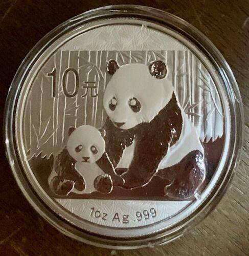 2012 China .999 Silver Panda1 Oz- Original Capsule (s15)