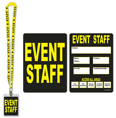 Card And Party (Event Staff Party Pass Lanyard with Card and Card Holder Costume)