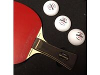 Brand new customised table tennis racket for sale along with case