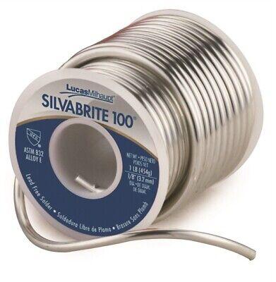 Silvabrite 100 Lead Free Brand New 1lb Solder Roll Contractor Grade 1 Roll