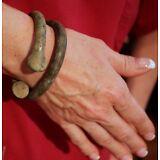 3 Men's Ladies Western Africa Bronze Copper Trade Bracelet Manilas 250 Years Old