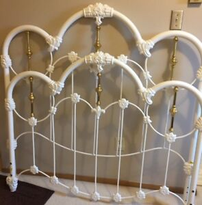 double brass / iron bed