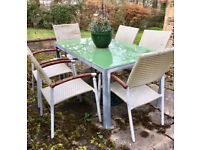 Outdoor table - glass and metal - 90x150