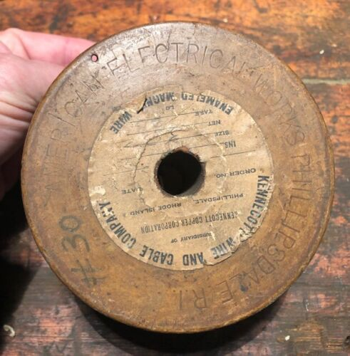 Vintage American Electrical Works Kennecott Wire & Cable Co Spool of Magnet Wire