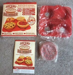 MY LIL' PIE MAKER for Pies, Quiches, Pot Pies Desserts New