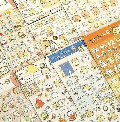 Sumikko Gurashi Stickers Cute Anlimals DIY Japanese Kawaii Sticker sheet!