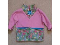 Ocky Olly smocka (fleece top with pouch for collecting leaves etc) 18 months-2 years