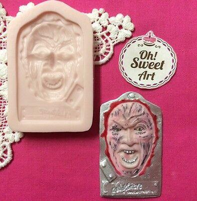 Halloween Freddy Krueger silicone mold fondant cake decorating soap food soap (Halloween Food Molds)