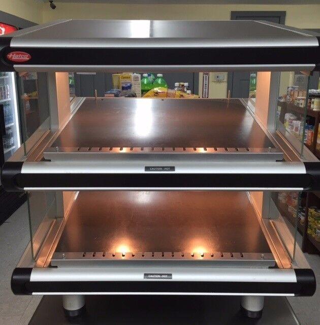 2 tier hot food merchandiser