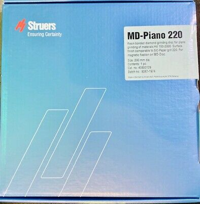 Struers Md-piano 220 40800129 8 Resin Bonded Diamond Grinding Disc Brand New