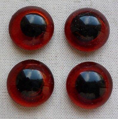 für Bastler - 4 Glasaugen - Augen für Rauchverzehrer - 14,3 mm - SK117-0619