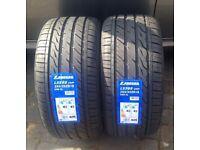2x CAR TYRES 255 35 18 xl 94w brand new bmw & Mercedes Rear Tyres