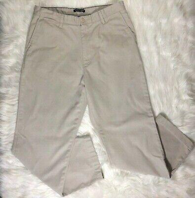 NAUTICA Men's Khaki Pants Size 34X30 Straight Leg 100% Cotton