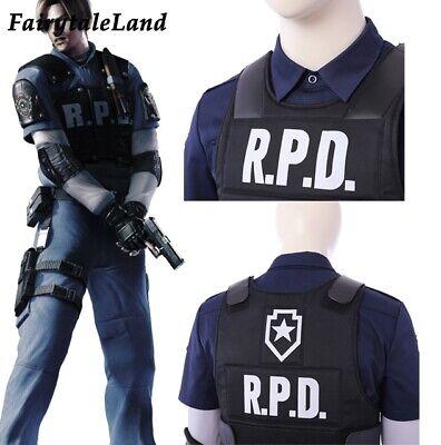Resident Evil 2 Remake Leon Cosplay Costume Vest Biohazard Re:2 Leon Vest outfit