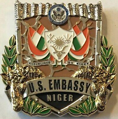 USMC MSG Marine Security Guard Detachment Niamey, Niger Challenge Coin