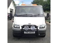 Ford transit bull bar with spots