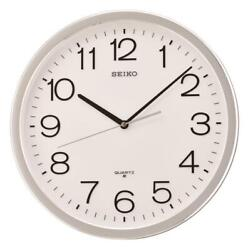 NEW SEIKO 14.1  ROUND  WALL CLOCK WITH QUIET SWEEP SECOND HAND QXA020SLH