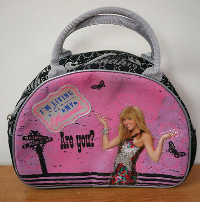 Hannah Montana ZAK Miley Cyrus Pink Silver Satchel Purse Lunch Tote Bag Small Hannah Montana Purse Handbag