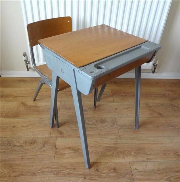 Vintage 1950 S Esavian Child S School Desk British