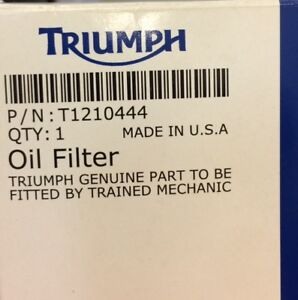 Motorcycle Triumph Oil Filter *Free*