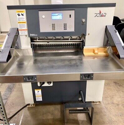 Polar 66 2019 Model Yr Programmable Paper Cutter Excellent Cond