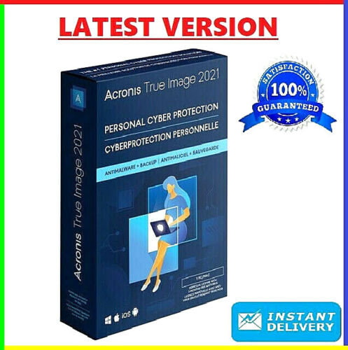 Acronis True Image 2021 🔥 Unlimited Devices ✅ PRE-ACTIVATED Lifetime License ✅