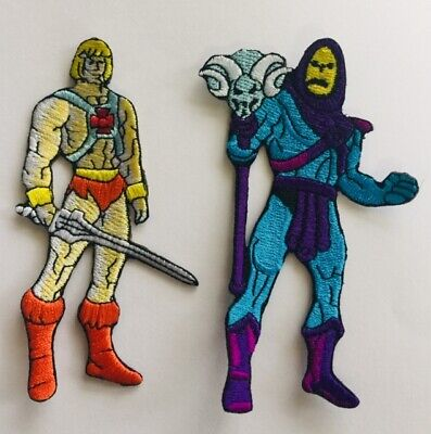 Cartoon-patch ( HE - MAN SKELETOR MOTU 80'S CARTOON PATCH.HERO VILLIANS PARTY COSTUME.Melbourne)