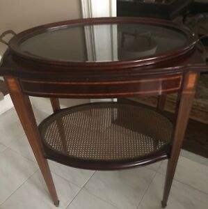 Mahogany Inlaid Tray table