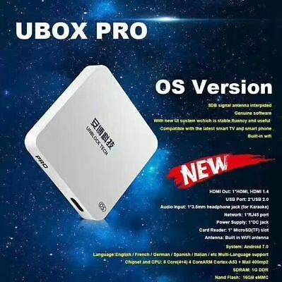 Unblock Tech Newest UBox5 TV box 安博盒子五代 OS Version Plus Free Bluetooth Earbuds