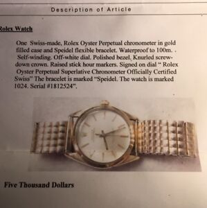 Beautiful Women's ROLEX Oyster Perpetual watch - signed on dial!