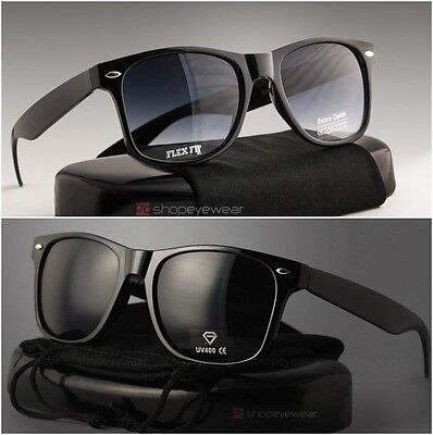 2 MEN Sunglasses square wayfare Super dark black lens & regular adult size  (Bulk Plastic Sunglasses)