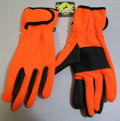Jacob Ash Mens Razorback Fleece Hunting Gloves Blaze Orange 25 698 Io New