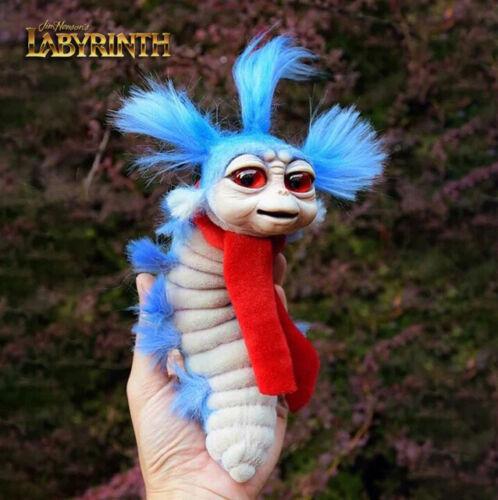 Ello Worm Doll Plush, Jim Henson Labyrinth, Fantasy Handmade Stuffed Toy, Bowie