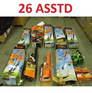 26 ASSTD POWER TOOLS LOT - 118441545 - EDGER TRIMMER BLOWER LAWN CARE GRASS MAINTENANCE SEE COMMENTS