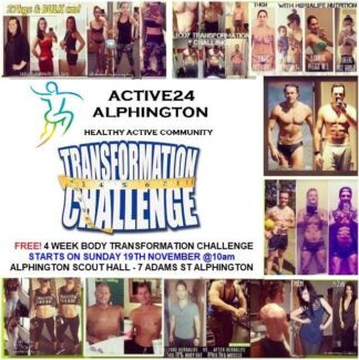 FREE! 4 WEEK BODY TRANSFORMATION CHALLENGE