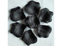500 BLACK SILK ROSE PETALS * NEW *