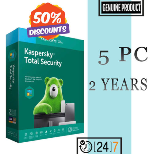 Kaspersky Total Security Antivirus 2020 - 5 PC Device 2 YEAR For Windows GLOBAL