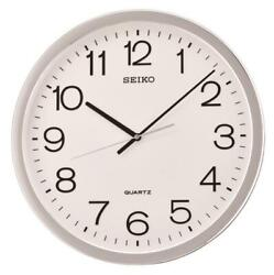 NEW SEIKO 15.7  ROUND  WALL CLOCK WITH QUIET SWEEP SECOND HAND QXA041SLH