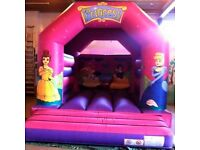 Disney Princess Commercial 12x14ft Bouncy Castle with 2x Blowers