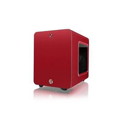 RAIJINTEK METIS PLUS No Power Supply Mini-ITX Case w/ Window (Red)